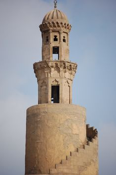 Fustat, mosque of ibn tulun, completed Cairo, Egypt. The spiral minaret Islamic Architecture, Art And Architecture, Cairo Time, Places In Egypt, Kairo, Lettuce Cups, Visit Egypt, Slow Travel, North Africa