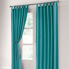 Teal curtains. To go wit my new peacock bedding!
