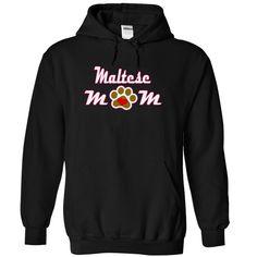 MALTESE mom love dog T-Shirts, Hoodies. SHOPPING NOW ==► https://www.sunfrog.com/LifeStyle/MALTESE-mom-love-dog-4355-Black-15953981-Hoodie.html?id=41382