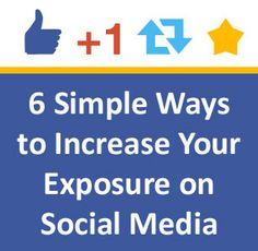 Six Simple Ways Nonprofits Can Increase Their Exposure on Social Media: http://nonprofitorgs.wordpress.com/2012/11/19/six-simple-ways-nonprofits-can-increase-their-exposure-on-social-media/