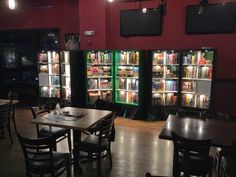 Transportable game shelves for hosting Tabletop Gaming Events at various restaurants, bars, and other venues. - Imgur