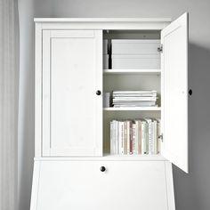 HEMNES Add-on unit for bureau, white stain, 89x90 cm - IKEA
