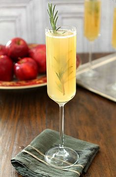 Apple Cider Bellini: This Bellini made with orange liquor, maple syrup and rosemary brings a hint of Thanksgiving spirit to a fall's favorite cider. Top with a splash of cold bubbly to add a festive fizz.
