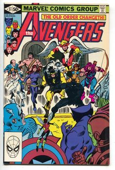 Avengers 211 Marvel 1981 NM Captain America Iron Man Thor Black Panther Hercules