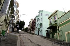 Steep Streets Have Stairs Incline by EstherReyes, via Flickr