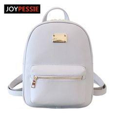 5658023f8 Joypessie 2016 Moda Feminina PU mulheres de couro mochila formal ocasional  Preto Mochilas Meninas mochilas escolares