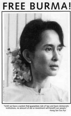 """Aung San Suu Kyi (1945- ) After 15 years under house arrest in Burma, Nobel Peace laureate Aung San Suu Kyi was granted freedom in November 2010, even as her country and the cause she's been fighting for sank deeper into political imprisonment under the military junta's rule. Known as """"the Lady"""" to millions of Burmese citizens, Suu Kyi has been the foremost leader in the effort to democratize the Southeast Asian nation and a courageous advocate for human rights and peaceful revolution."""