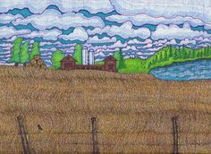 Field Landscape Drawing