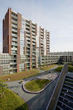 Block A Noordstrook / Dick van Gameren architecten (10) Quién dijo que el ladrillo visto era una imagen anticuada de los años 70?... cuando se utiliza con creatividad, hasta puede ser LEAN construction