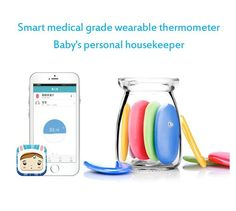 Us Stock! Smart Baby Thermometer Children Electronic Skin Intelligent Bluetooth Digital Wireless App Temperature Sensor Humidity Thermometer For Baby Recommended No Touch Baby Thermometer From Usa111, $28.99| Dhgate.Com