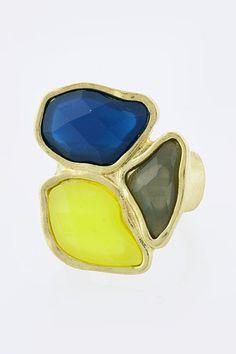 Acrylic Jewel Stretch Statement Ring -- Gorgeous.