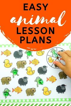 No matter what animal is their favorite, your kids are sure to love the fun and engaging activities in these Animal Theme Lesson Plans from Life Over C's! These activities are perfect for preschoolers. Grab these teaching resources. Lesson Plans For Toddlers, Preschool Lesson Plans, Art Lesson Plans, Motor Skills Activities, Preschool Learning Activities, Preschool Books, Learning Games For Kids, Teaching Kids, Teaching Resources
