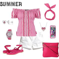 Summer Style by lwilkinson on Polyvore featuring Krüger Dirndl, H&M, Volatile, Kate Spade, Akribos XXIV, Ice, women's clothing, women's fashion, women and female