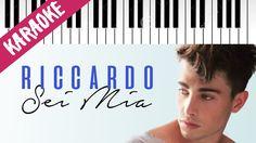 Riccardo Marcuzzo   Sei Mia   AMICI 16   Piano Karaoke con Testo