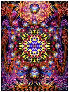 NewArtz mystical illuminations for Hippies tripping through cosmic awakening.