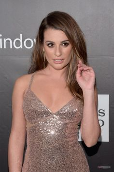 Lea Michele at the amfAR LA Inspiration Gala