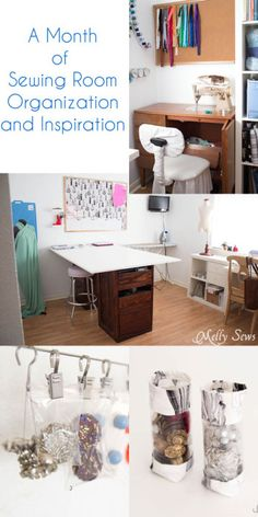 January Wrap Up - Sewing Room Organization Ideas - Melly Sews
