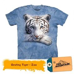 Tricouri The Mountain – Tricou Resting Tiger Zoo Animals, Animals For Kids, T-shirt Tigre, Tiger Design, Tiger T Shirt, Animal Totems, Boy Fashion, Boy Outfits, Tee Shirts