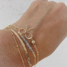Zierliche Layering Armband 14kt Rose Gold Gold von OnlySimple