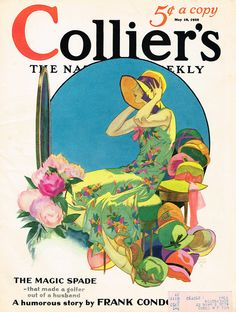 John Holmgren's painting on the cover of Collier's magazine May 18, 1929
