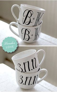 Such a great wedding gift idea! esp. for coffee lovers!   Wandersketch