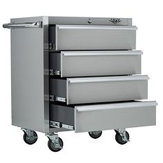 Beautiful Stainless Steel Rolling Cabinet