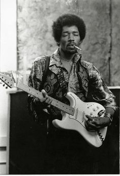 Jimi Hendrix photographié en 1969 par l'artiste Roberto Rabanne