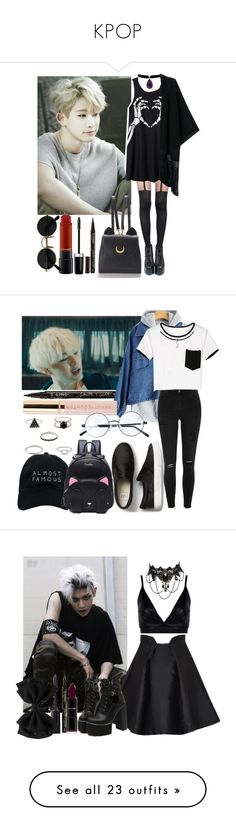"""KPOP"" by hutcherson-lover-girl ❤ liked on Polyvore featuring Pretty Polly, WithChic, Smith & Cult, Marc Jacobs, MAC Cosmetics, Nasaseasons, Beautycounter, River Island, Boohoo and Paper London"