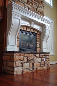 Our Fireplace Remodel Desert Quartz Ledgestone From Lowes