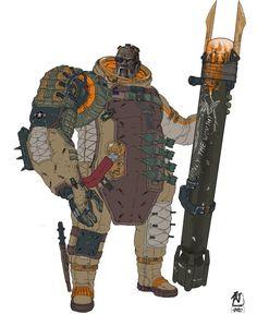 "ArtStation - Frontier Red: Sgt. Keith ""Worthy"", William Bao"