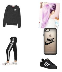 """""""Jade"""" by leilx ❤ liked on Polyvore featuring NIKE, adidas Originals and Casetify"""