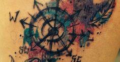 watercolor tattoo travel - Szukaj w Google