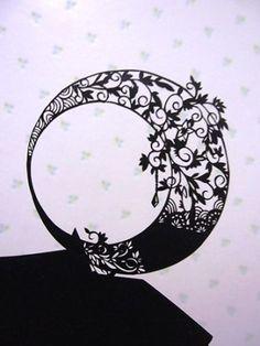切り絵 図案 無料 簡単 - Yahoo!検索(画像) Japanese Drawings, Japanese Artwork, Laser Paper, Diy And Crafts, Paper Crafts, Japanese Illustration, Decoupage Art, Paper Lace, A Level Art