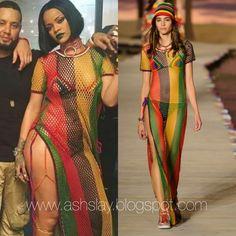 "A S H S L A Y : Style BreakDown : Rihanna ""Work"" Music Video Fashion"