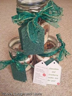 Home Made Gifts - Cookie Mix Jars from Love, Laugh and Learn