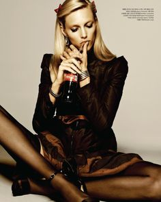 """Anja Rubik in """"Bike to the Fall"""" by Rafael Stahelin for Vogue Korea October 2012"""
