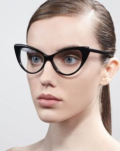 I would TOTALLY wear these Cat-Eye Fashion Glasses by Tom Ford at Bergdorf Goodman.