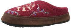 ACORN Women's Forest Mule Slipper, Red Raccoon, Large/8-9 M US -- For more information, visit image link.