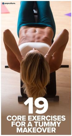 19 best core moves you can do at home - tighten and tone your tummy and get the abs of your dreams!   Popculture.com