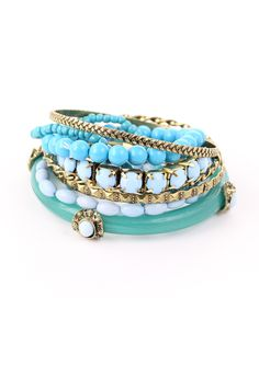 Mixed Turquoise Bracelet Pack - Accessory - Retro, Indie and Unique Fashion