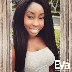 #EvaWigs best seller #kinky #straight full lace wig, rocked by IG girl @ghana_goddess #fulllacewig