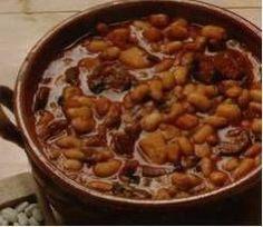 Heerlijke maaltijdsoep. Door het rundvlees wat minder calorierijk. Ons smaakt deze soep uitstekend. Denk aan het weken van de bruine bonen! N.B. Voeg pas zout...