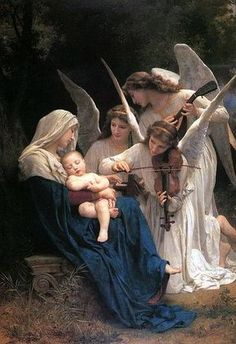 William-Adolphe Bouguereau, Song of the Angels, 1881.