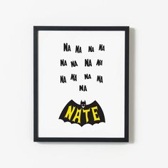 Batman Printable Personalised Name by LittlePeopleCoShop on Etsy