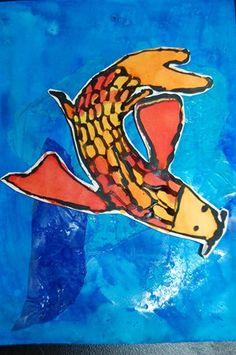 Watercolor Koi Fish or any type fish - Artsonia Lesson Plan