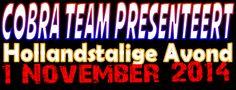 Cobra Team presenteert Hollandstalige Avond op zaterdag 1 november. Met optredens van Lucas en Gea (met cd presentatie), Anita en Ed, Jan Vaartjes, Henk-Jan Tangenberg en Mark doldersum. Locatie: Zalencentrum Muller in Beilen.  http://koopplein.nl/middendrenthe/329755/cobra-team-presenteert-hollandstalige-avond.html