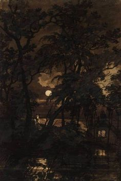 Joseph Mallord William Turner~ A Transparency: The Moon See through the Trees 1797