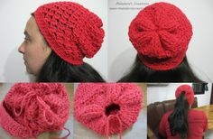 Angel Stitch Adjustable Slouchy Beanie - Free Crochet Pattern and Tutorial by Meladora's Creations