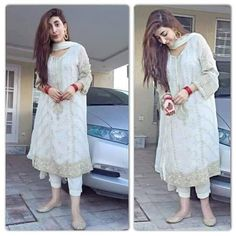 Celebrities Wearing MARIA.B Dresses Designs