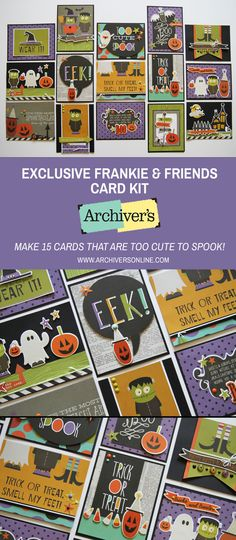 Make 15 cards that are too cute to spook with this fun card kit that's only available at Archiver's while supplies last!
